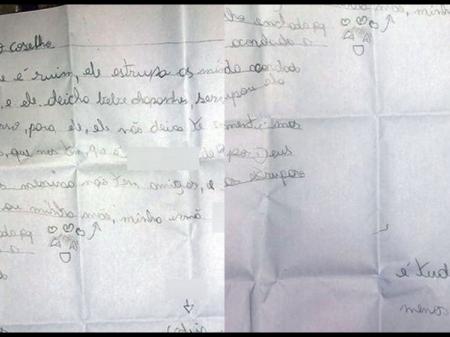 Menina escreve carta e denuncia que pai estupra as 2 irmãs dela