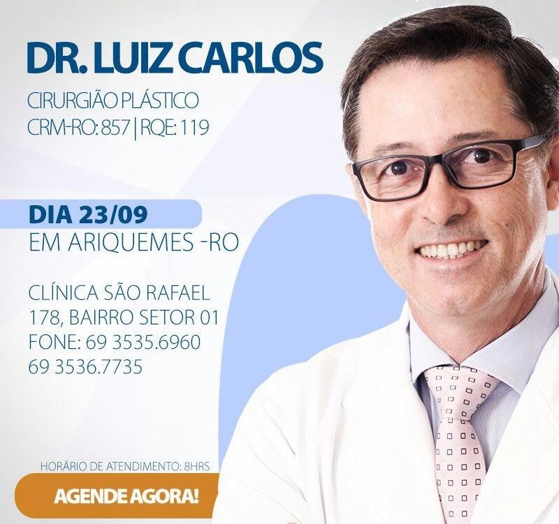 Dr. Luiz Oliveira da Clínica Center Plástica de Porto Velho (Foto: Reprodução)