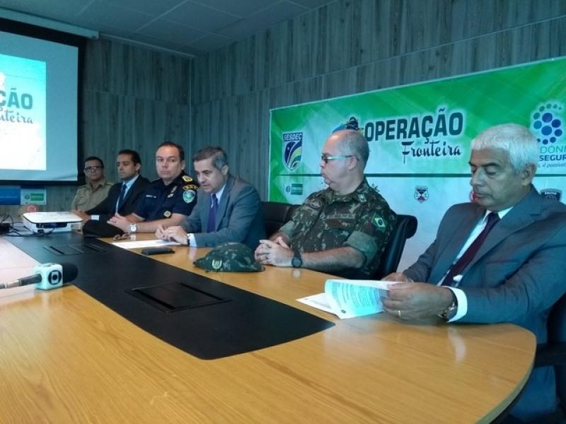 Resultado da operação foi apresentado à imprensa, em coletiva, nesta segunda-feira, 5. (Foto: Toni Francis/G1)