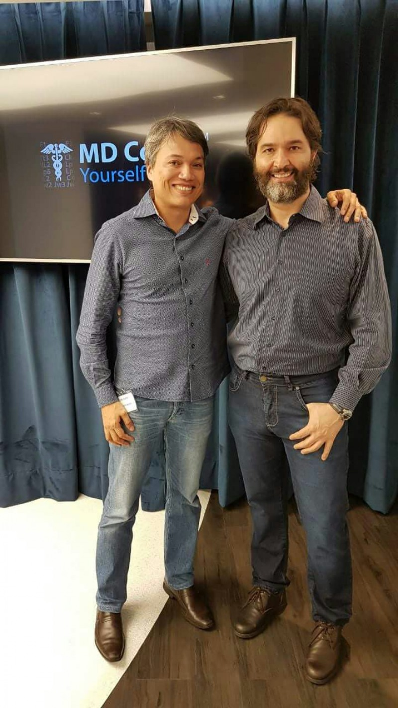 Dr. Eder Maeda com Dr. Mauricio De Maio (Foto: Reprodução)