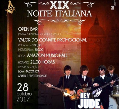 XIX NOITE ITALIANA – Dia 28 de outubro no Amazon Music Hall
