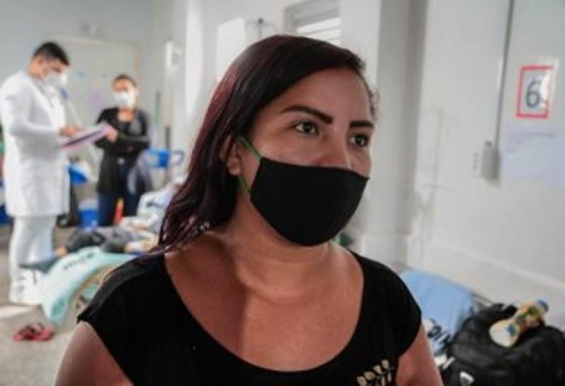 A tia da Maria Fernanda não abre mão do uso da máscara como prevenção à Covid-19 (Foto: Divulgação)